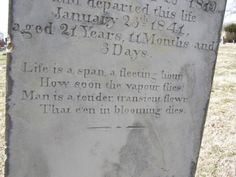 """""""Life is a span, a fleeting hour; How soon the vapour flies.  Man is a tender, transient flowr, That e'en in blooming dies."""" Saint Michael's Cemetery Baltimore, Ohio"""