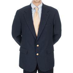 #VintageBlazer #Chaps #RalphLauren Blazer #SportCoat Navy #GoldButtonBlazer 2 Button 44 L Wool #SomeLikeItUsed #Ebay