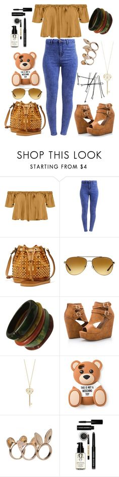 """Best Day Of My Life (read the D)"" by still-into-malik ❤ liked on Polyvore featuring Boohoo, New Look, MCM, Michael Kors, Ashley Stewart, Moschino and Bobbi Brown Cosmetics"