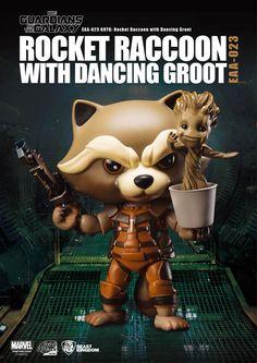Les+Gardiens+de+la+Galaxie+Egg+Attack+figurine+Rocket+Raccoon+with+Dancing+Groot+Beast+Kingdom+Toys