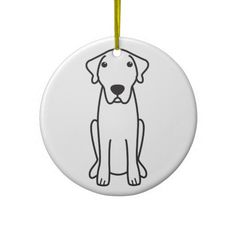 Anatolian Shepherd Dog Cartoon Christmas Tree Ornaments