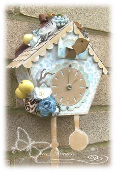 Xcut Die Cuckoo Clock Papers Cottage Charm Collection http://thecraftbucket.blogspot.co.uk/