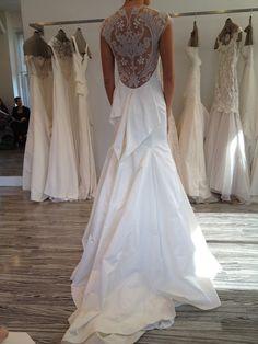 Lela Rose Spring Market 2012, lace illusion back, wedding gown