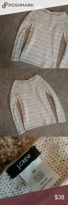 J.Crew Blush Dolce Sweater Mohair Wool Blend Super soft and long both in the body and sleeves with a flattering nice boat neck. This sweater is in perfect condition. J. Crew Sweaters Crew & Scoop Necks