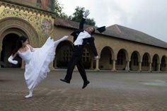 快打旋風式的婚紗照