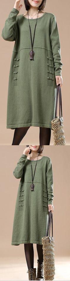 2016 green oversized sweaters woman plus size winter dress