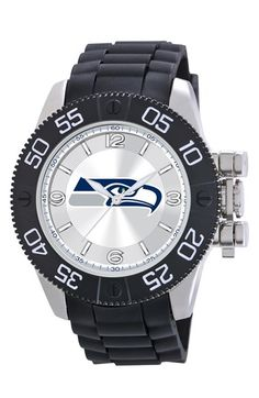 Game Time Watches 'NFL - Seattle Seahawks - Beast' Polyurethane Strap Watch, 47mm available at #Nordstrom