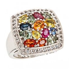 Sima-K+Silver+'Mosaic'+Ring+with+Multi-Sapphires+and+White+Topaz+by+www.simakboutique.com