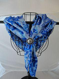Blue wild rag