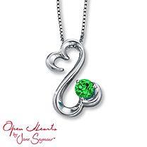 The beautiful necklace my boyfriend got me for Valentines day last year! Open Hearts by Jane Seymour® Swarovski Green Topaz Necklace