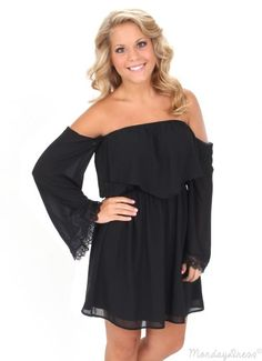 Saturday Night Special Long Sleeve Black Dress