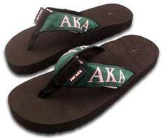 0f4997708686 Shop for Alpha Kappa Alpha flip-flops at Greek Gear