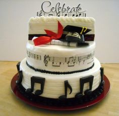 High School Graduation Cakes | Musical Graduation Cake — Graduation Cakes Photos
