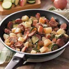 Sausage Potato Supper Recipe -substitute sausage, butter, and cheese