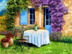 Kits Broderie diamants, Diamond Painting kits complet carrés de paysages. | C.S.M Waterfall Drawing, Pintura Exterior, Sunflower Fields, Palette, Outdoor Furniture Sets, Outdoor Decor, Online Painting, French Artists, Great Artists
