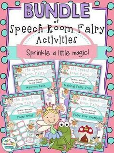 Sprinkle some magic around your room with the Speech Room Fairy! Activities & decor ideas to use all year round.