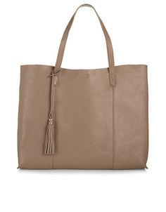 Leather Slouchy Shopper