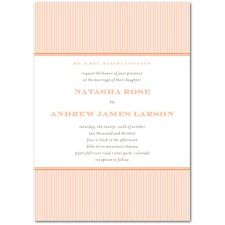 orange stripes invite
