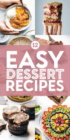 12 Easy Dessert Recipes! Got a sweet tooth? Same here. From cookies, to bars, to pies and more, here are some of our favorite easy dessert recipes! #dessert #sweettooth #easydessert Chocolate Pie Filling, Chocolate Almond Milk, Soft Chocolate Chip Cookies, Chocolate Snacks, Soft Sugar Cookies, Salted Chocolate, Unsweetened Chocolate, Raspberry Crumble Bars, Easy Desserts