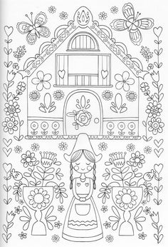 Scandinavian Coloring Book Pg 25