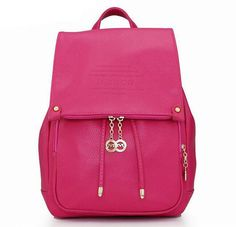 2017 Popular Fashion Genuine Leather Backpacks High Quality Women Backpack Famous Brands Large Capacity Travel Backpack C0390