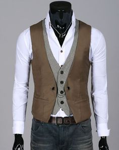 Double-layered vest.  NY FashionCity