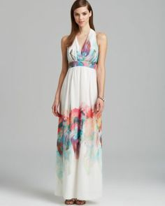 Nicole Miller Gown - Chiffon Print Empire  Bloomingdale's