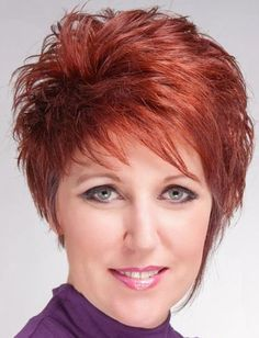Short elegant spiky hairstyles for women with red color - Cool & Trendy Short Hairstyles 2014
