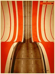 orange . road . lines . curves