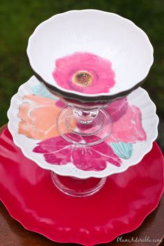 DIY Tiered Platters