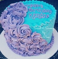 Image result for teal and blue cakes
