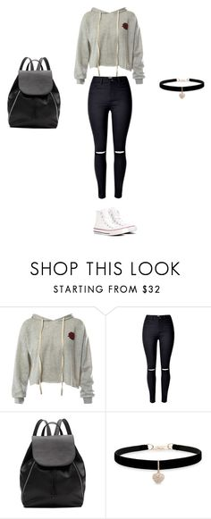 """Lazy shopping"" by lalisamanoban-786 on Polyvore featuring Sans Souci, Witchery, Betsey Johnson and Converse"