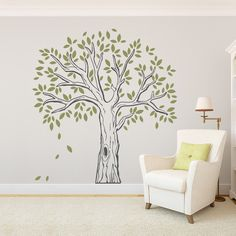 Add an antique flair to any room with our Old Trunk Tree Wall Decal. This vintage looking tree comes with Peel and Stick Leaves. Tree Wall Painting, Tree Wall Art, Wall Paintings, Wall Carpet, Stair Carpet, Buy Carpet, Bedroom Carpet, Design Your Home, Vinyl Wall Decals