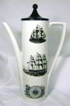"Vintage ""Sailing Ships"" Portmeirion Pottery 6 Cup Teapot/Coffee Pot from Ebay.ca, $60.00"