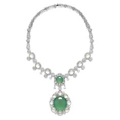 Natural Jadeite, Icy Jadeite and Diamond Pendent Necklace; and Matching Ring, Alessio Boschi