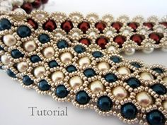 PDF tutorial beaded bracelet 8mm 6mm pearl seed by BeadsMadness