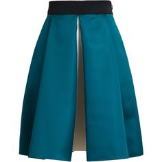 ROKSANDA ILINCIC Flared Colour Block Skirt found on Polyvore