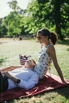 Couple meeting at the park by Mauro Grigollo - Love, Relationship - Stocksy United Summer In The Park, Picnic In The Park, Summer Camps For Kids, Summer Kids, Picnic Photography, Park Joy, Bonheur Simple, Summer Barbecue, A Perfect Day
