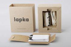 Burgopak Studio for Lapka — The Dieline   Packaging & Branding Design & Innovation News Electronic Packaging, Kraft Packaging, Phone Packaging, Cool Packaging, Product Packaging, Creative Review, Creative Package, Cardboard Packaging, Packaging Design Inspiration