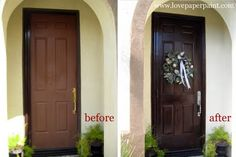 Gel Stained Fiberglass Door I Used Old Masters Gel Stain