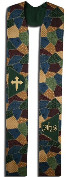 Hey, I found this really awesome Etsy listing at https://www.etsy.com/listing/195882233/patchwork-clergy-stole-custom-embroidery