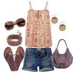 Sunny Summer day, created by lovelyingreen on Polyvore