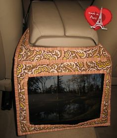 iPad holder for car tutorial from TeresaDownUnder. Can adapt for Kindle Fire and Nook Color/Tablet (P.S. This is a wonderful blog. Lots of great tutes. check it out)