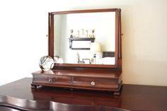 Gentlemans Dresser Top Mirror Dresser Mirror by Vintassentials