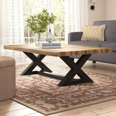 Awesome Wooden Coffee Table Design Ideas Match For Any Home Design 26 Wooden Coffee Table Designs, Rustic Coffee Tables, Diy Coffee Table, Decorating Coffee Tables, Diy Table, Dining Table, Console Table, Wooden Tables, Coffee Table Rectangle