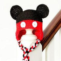 Tasseled Magical Mouse Baby Hat | AllFreeCrochet.com