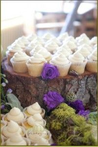 cupcakes Rustic Mountain wedding Located in the Village Lodge at Sugar Bowl Resort California Jenn Bartell Photography and Design