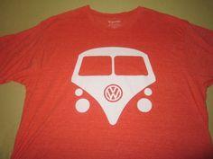 VW VOLKSWAGEN BUS VAN  T Shirt Sz XL  - Orange #VWDriveGear #GraphicTee