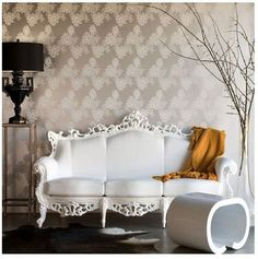Gorgeous White Antique Couch