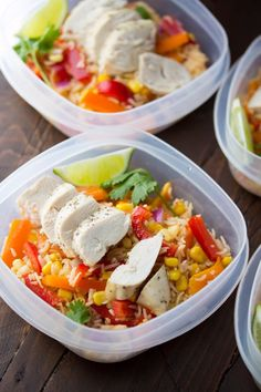 Healthy Lunch Ideas for Work - Chicken Fajita Lunch Bowls - Quick and Easy Recipes You Can Pack for Lunches at the Office - Lowfat and Simple Ideas for Eating on the Job - Microwave, No Heat, Mason Jar Salads, Sandwiches, Wraps, Soups and Bowls http://diyjoy.com/healthy-lunch-ideas-work